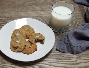 Salted Chocolate Chunk Bourbon Cookie | Feast In Thyme