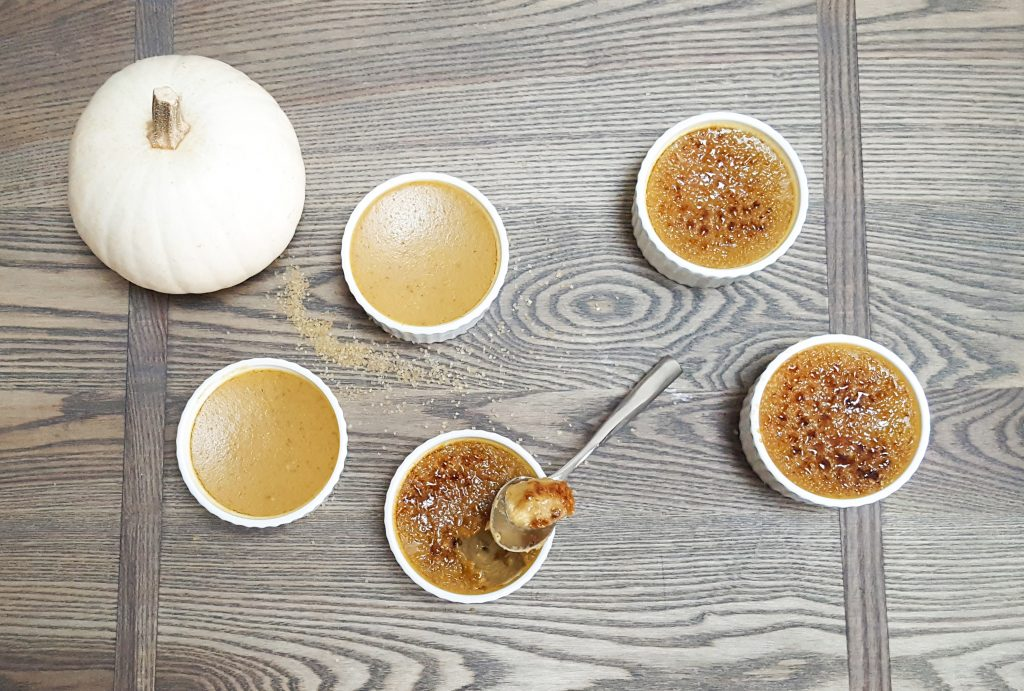 Maple-Bourbon Pumpkin Creme Brulee | Feast In Thyme