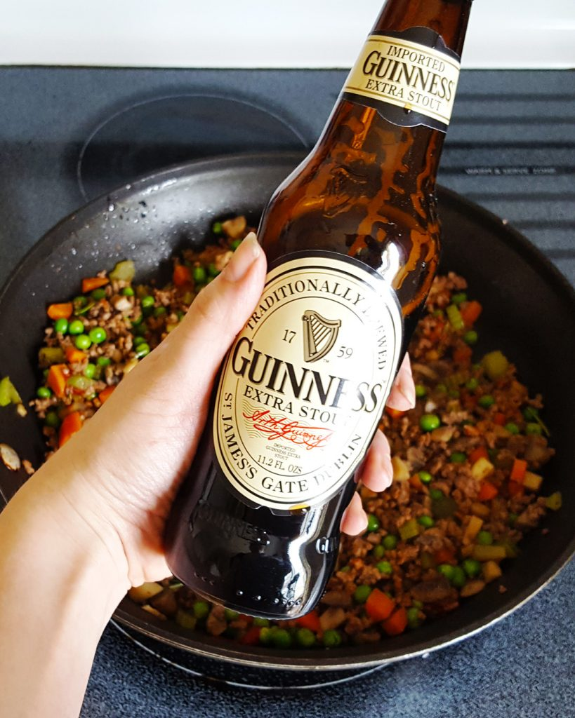 Sage & Brown Butter Mashed Potato Shepherd's Pie with Guinness, Bacon, & Beef Filling | Feast In Thyme
