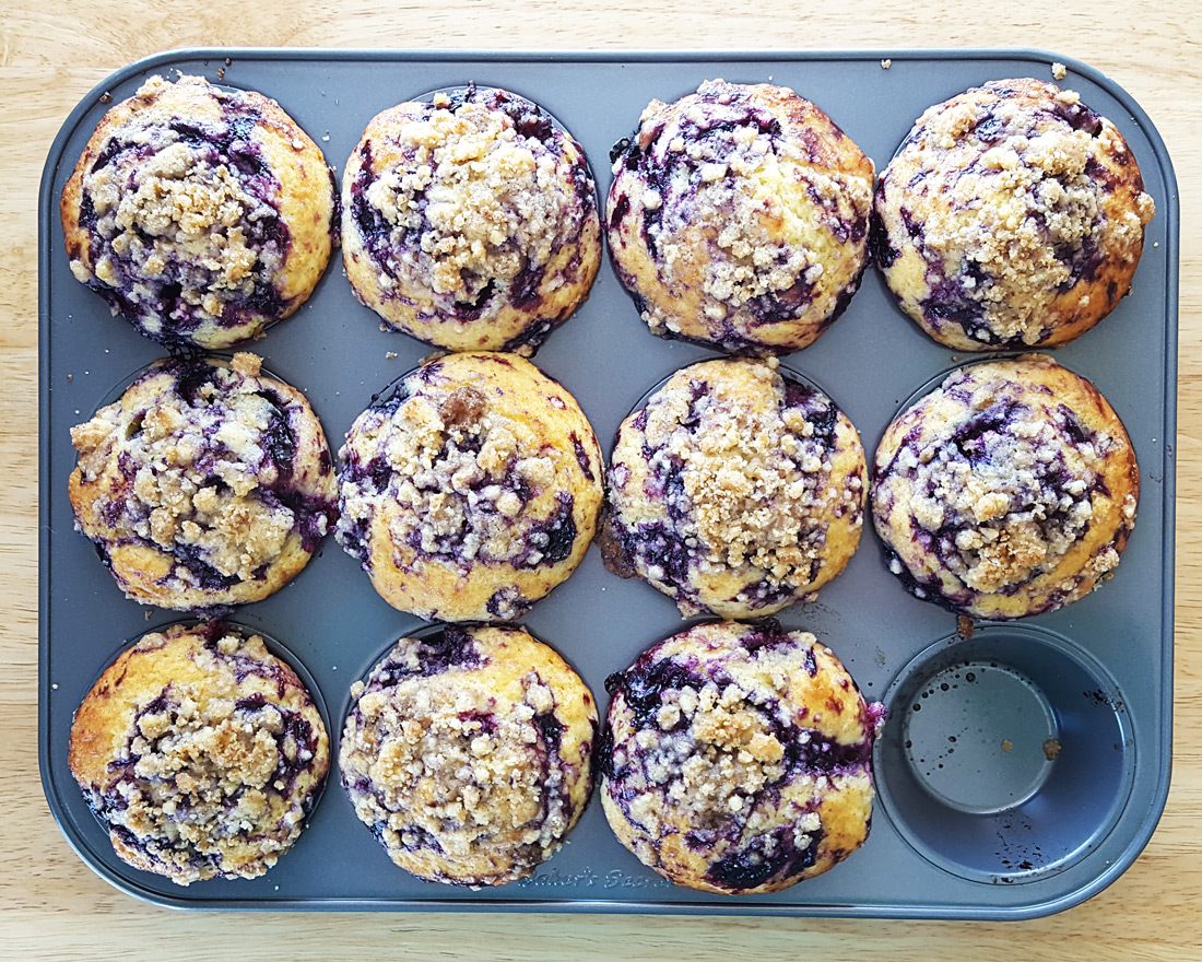 Blueberry Glaze Muffins with Streusel & Lemon Zest | Feast ...