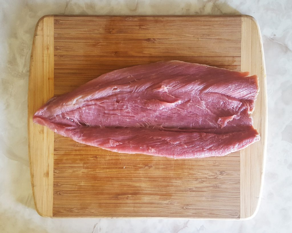 Brandied Apricot Stuffed Pork Tenderloin | Feast In Thyme : Preparing the tenderloin