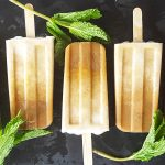 Boozy Mint Coffee Coconut Cream Popsicles | Feast In Thyme