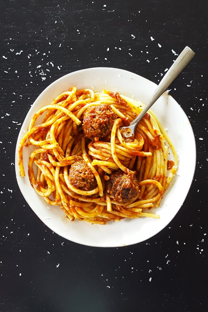 My Favorite Meatballs with Fresh Basil & Parmesan [Gluten Free & Low FODMAP] | Feast In Thyme