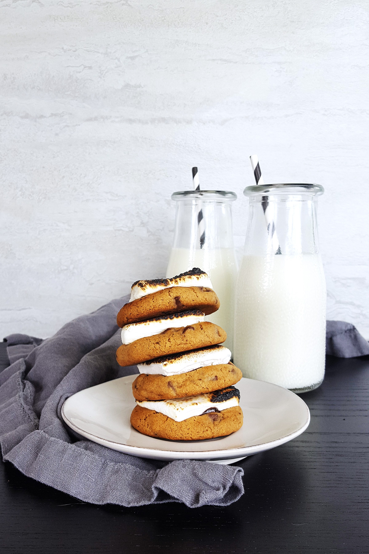 Milk Chocolate Chip S'more Cookies | Feast In Thyme