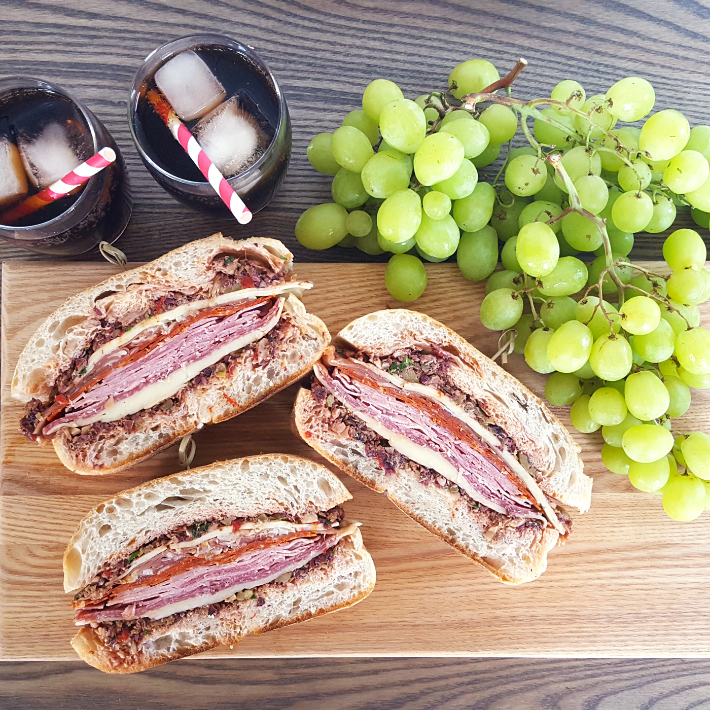 Easy Italian Desserts For A Crowd: Pressed Muffuletta Sandwich For A Crowd & Tips For A