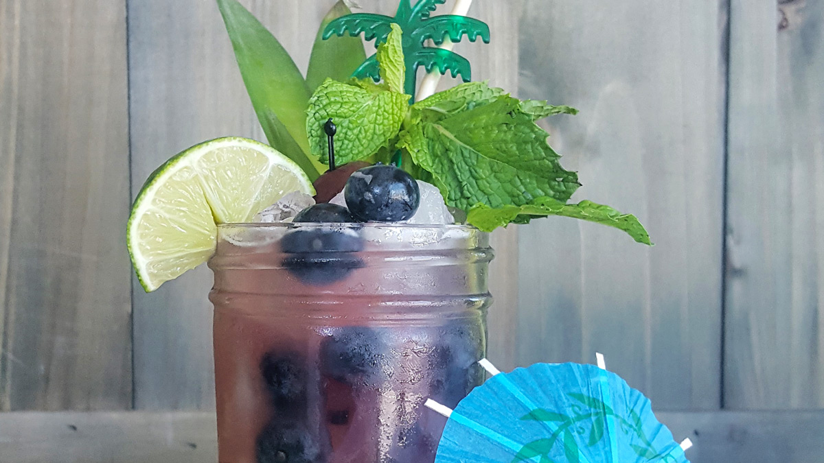The Cecaelia | A Blueberry Rum Tiki Cocktail